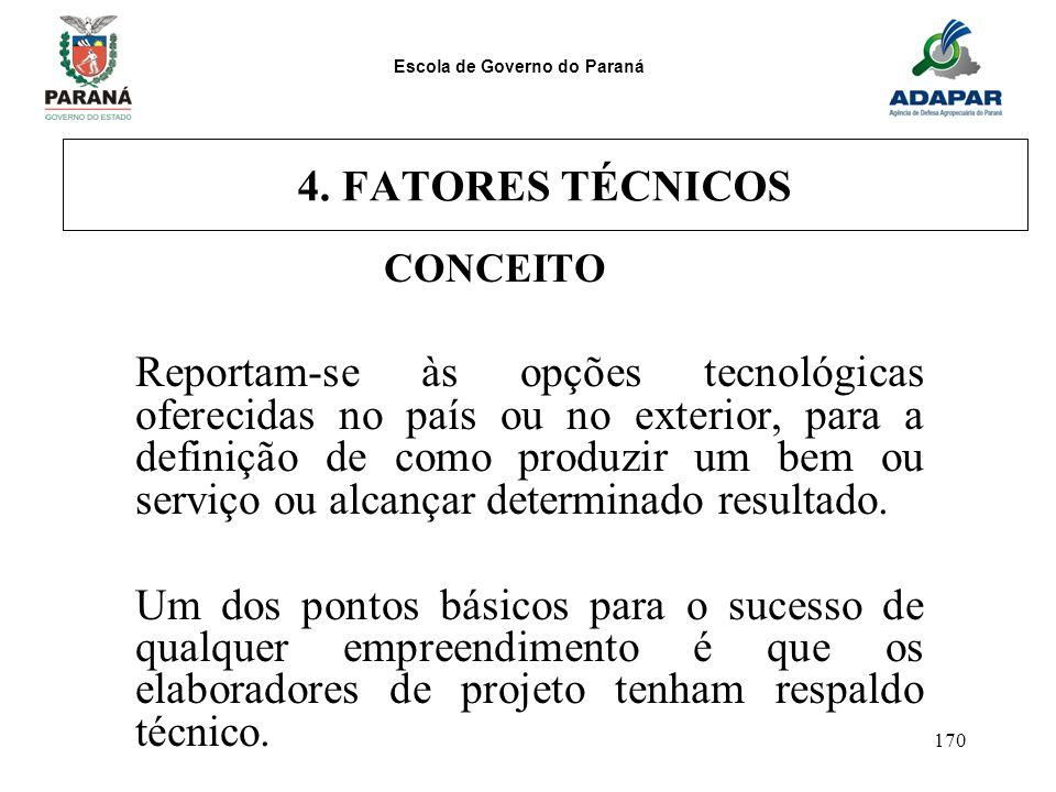 4. FATORES TÉCNICOS CONCEITO.