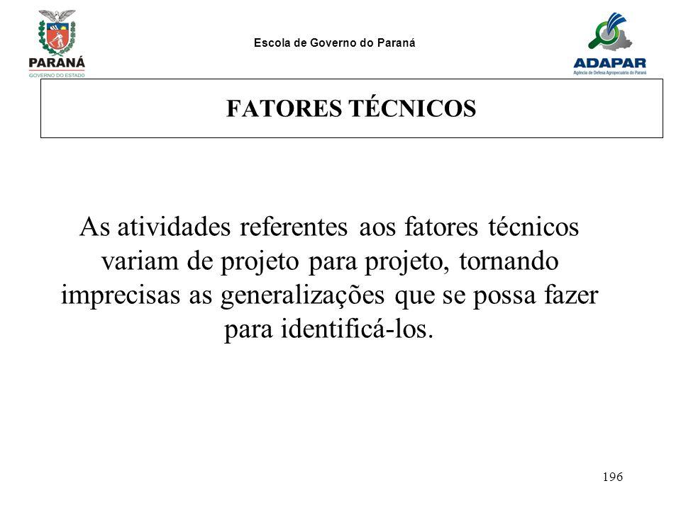 FATORES TÉCNICOS