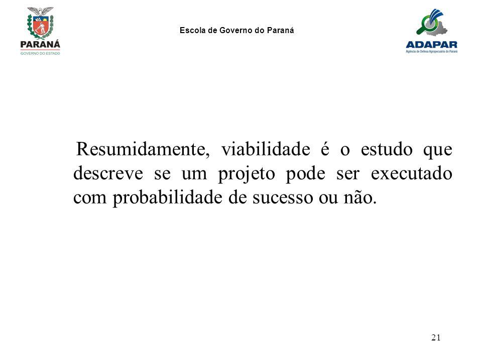 Resumidamente, viabilidade é o estudo que descreve se um projeto pode ser executado com probabilidade de sucesso ou não.