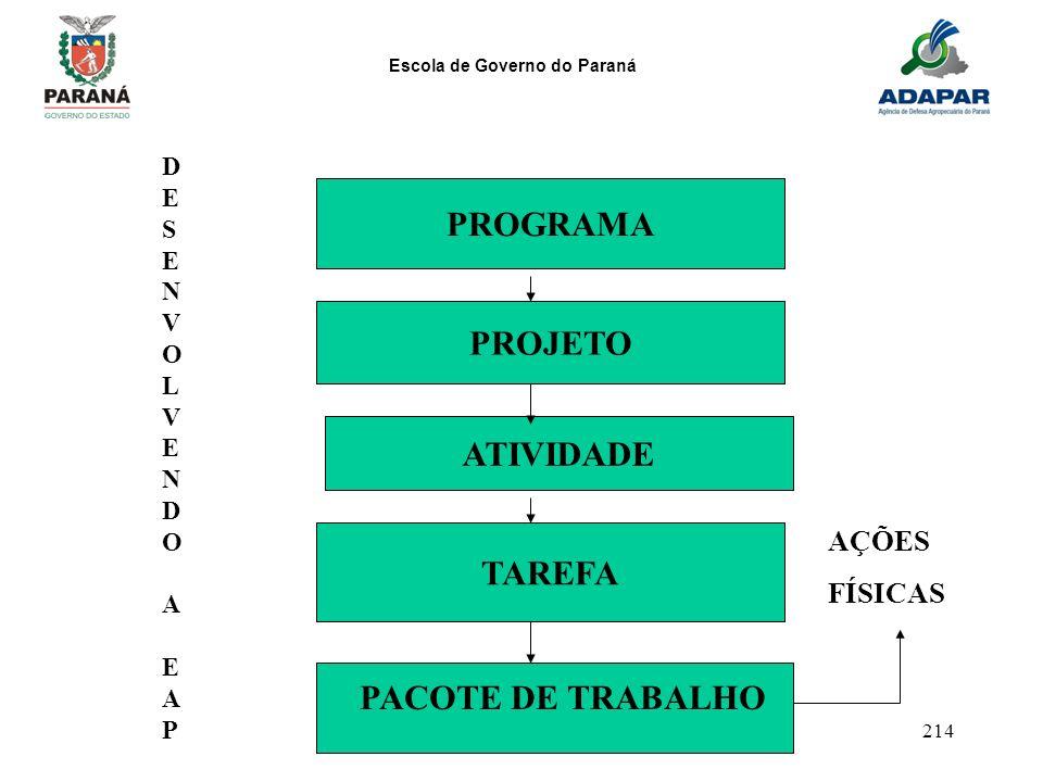PROGRAMA PROJETO ATIVIDADE TAREFA