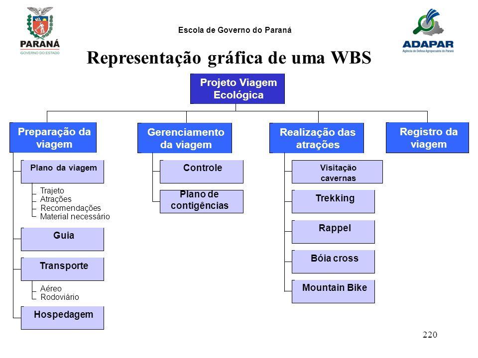 Representação gráfica de uma WBS