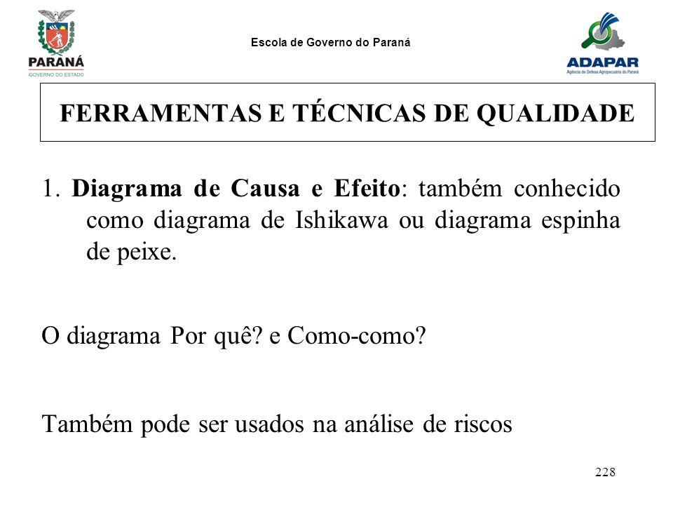 FERRAMENTAS E TÉCNICAS DE QUALIDADE