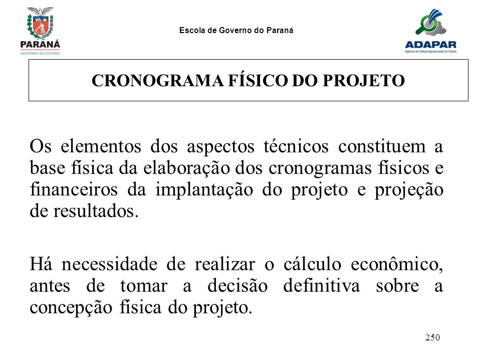 CRONOGRAMA FÍSICO DO PROJETO