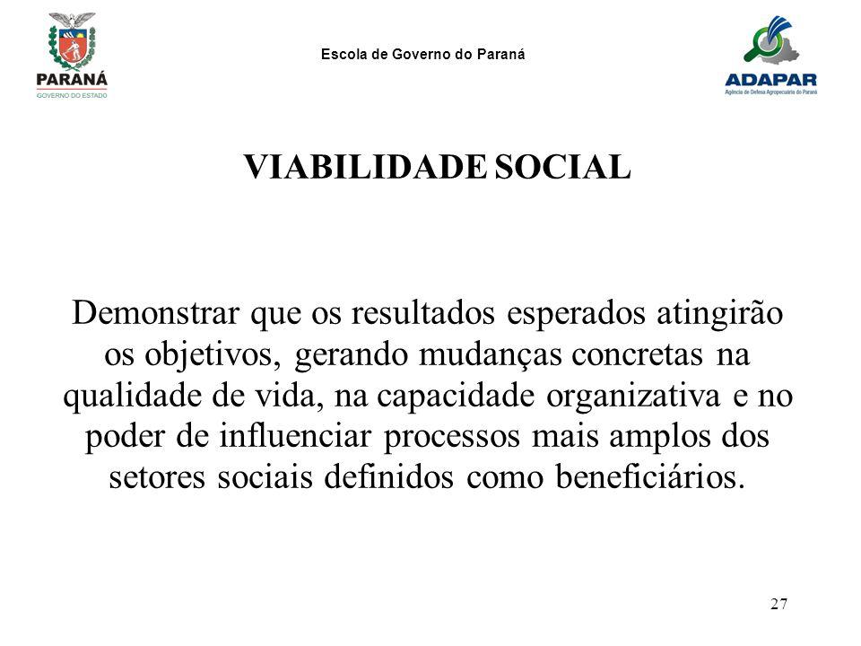 VIABILIDADE SOCIAL
