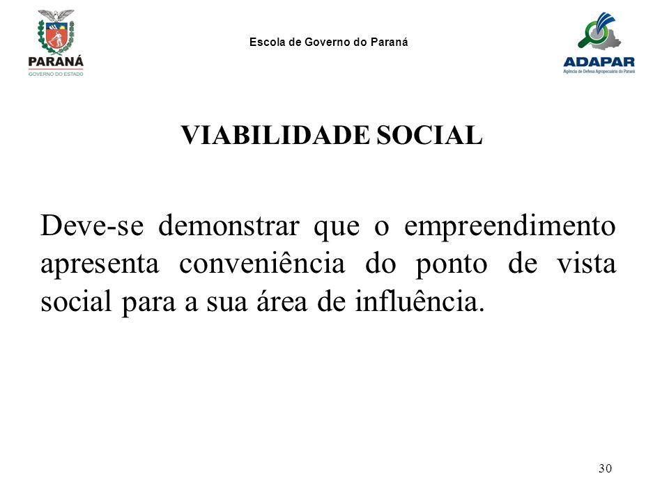VIABILIDADE SOCIAL Deve-se demonstrar que o empreendimento apresenta conveniência do ponto de vista social para a sua área de influência.