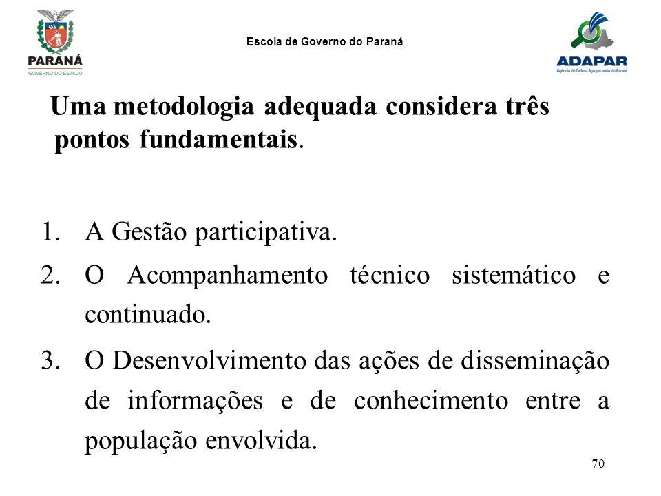 A Gestão participativa.