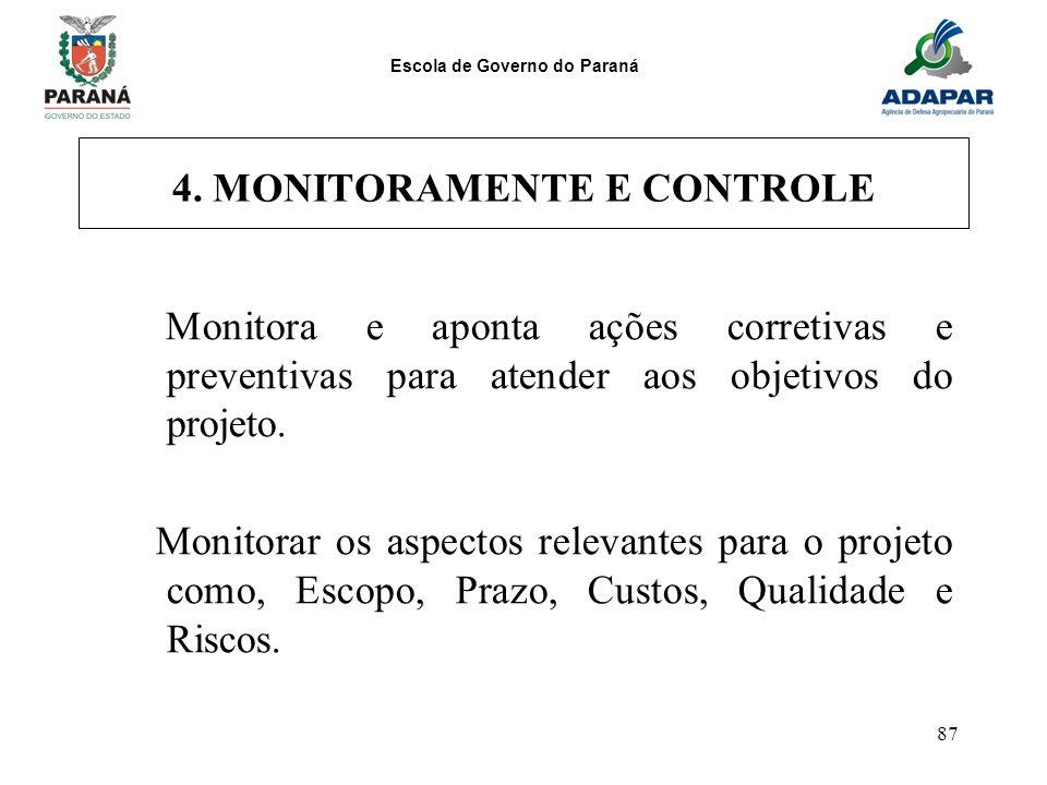 4. MONITORAMENTE E CONTROLE