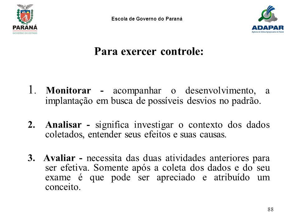 Para exercer controle: