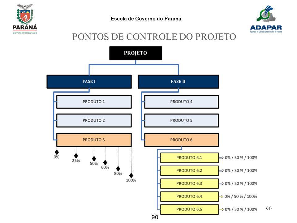 PONTOS DE CONTROLE DO PROJETO