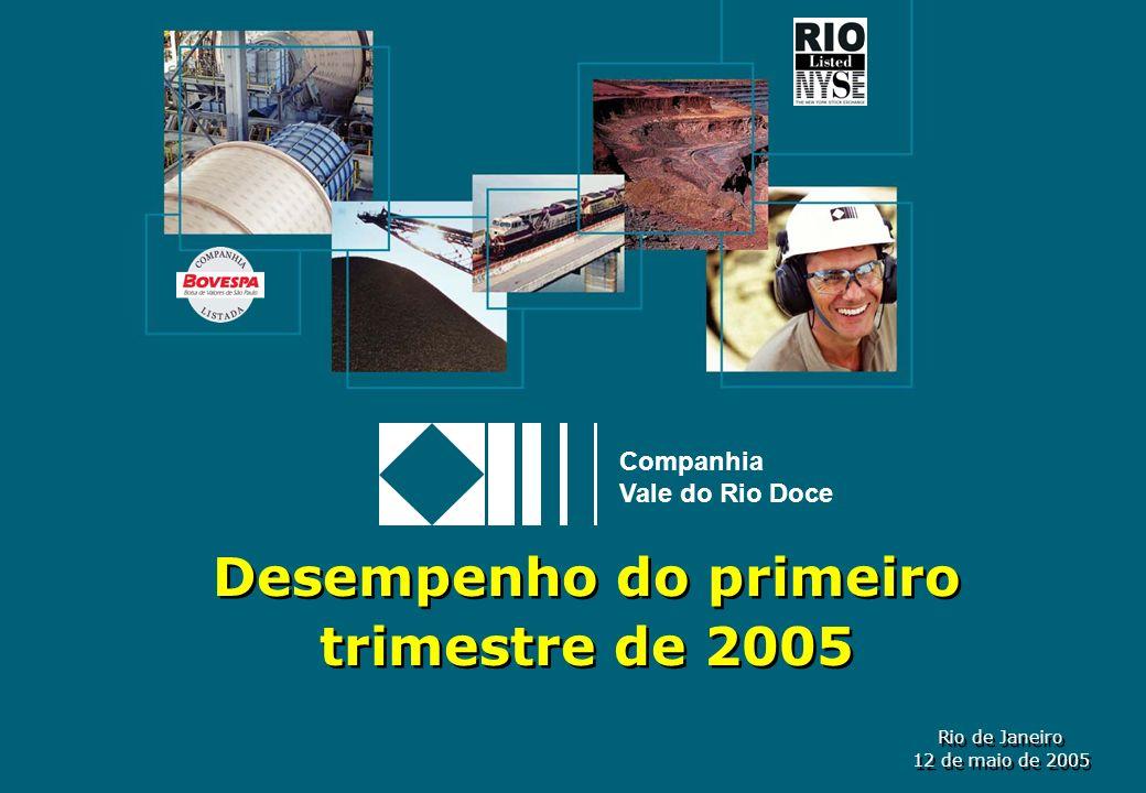 Desempenho do primeiro trimestre de 2005