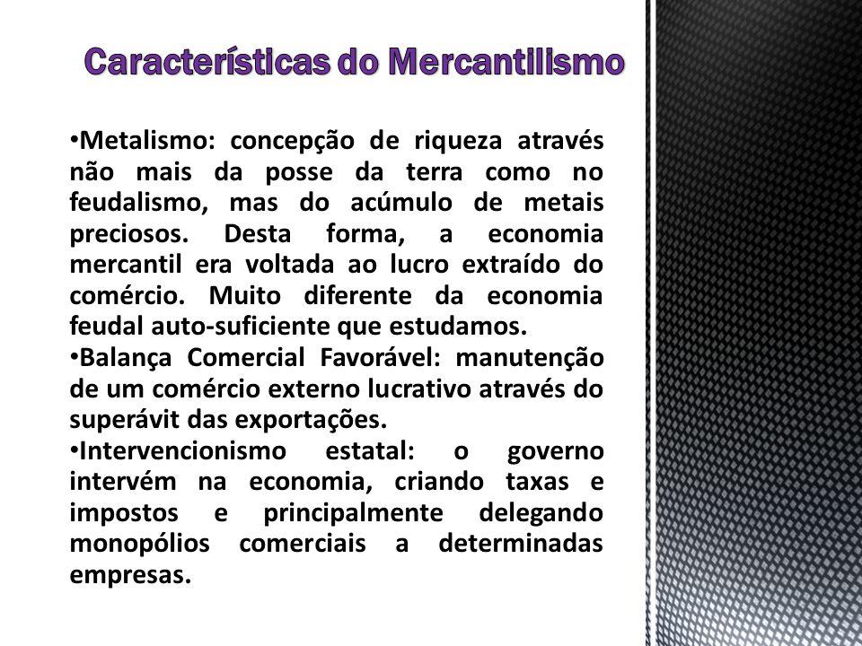 Características do Mercantilismo