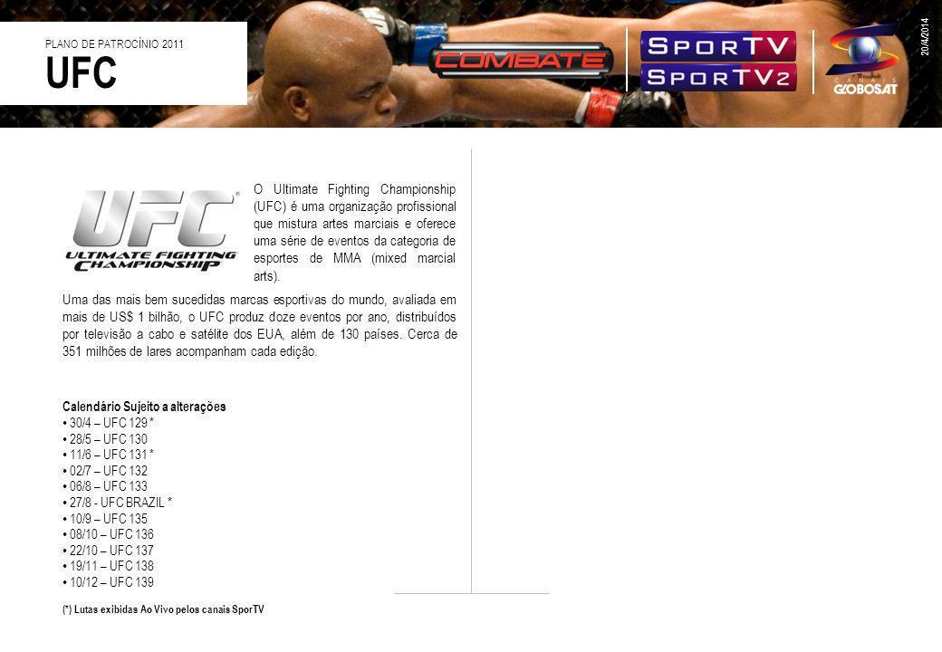 26/3/2017 PLANO DE PATROCÍNIO 2011. UFC.