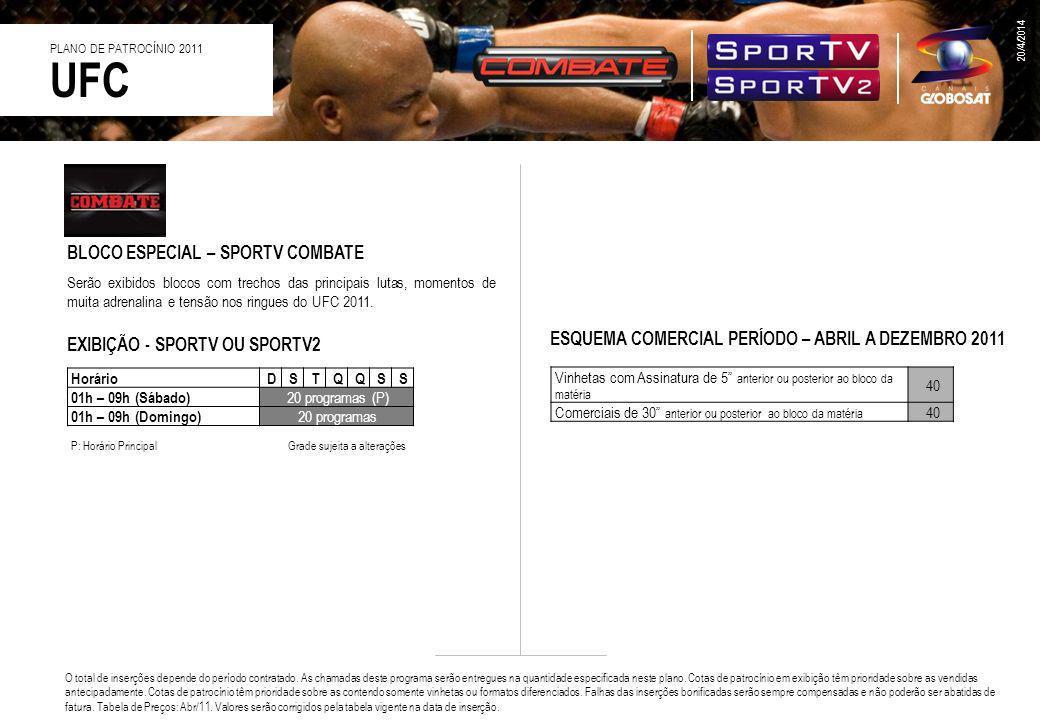 UFC BLOCO ESPECIAL – SPORTV COMBATE