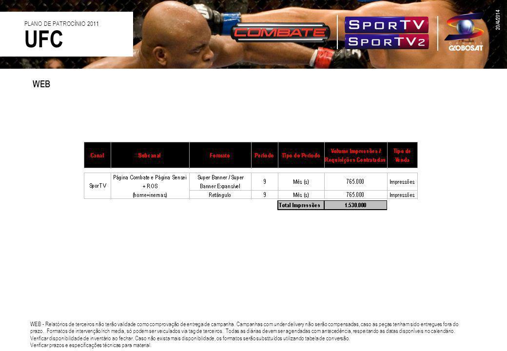 UFC WEB PLANO DE PATROCÍNIO 2011