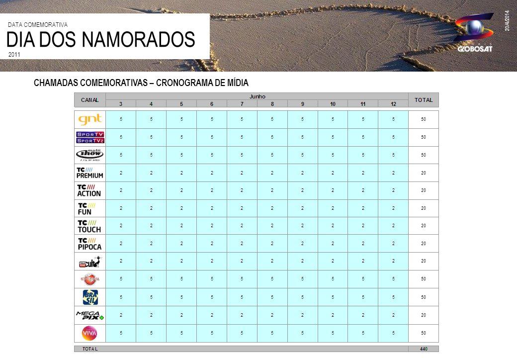 DIA DOS NAMORADOS CHAMADAS COMEMORATIVAS – CRONOGRAMA DE MÍDIA