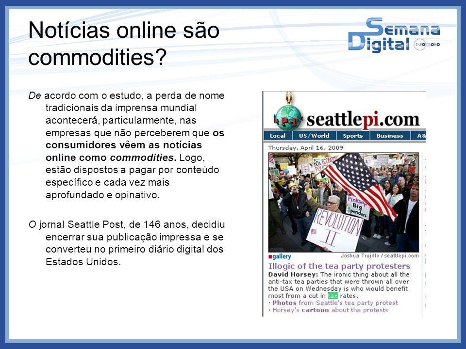 Notícias online são commodities