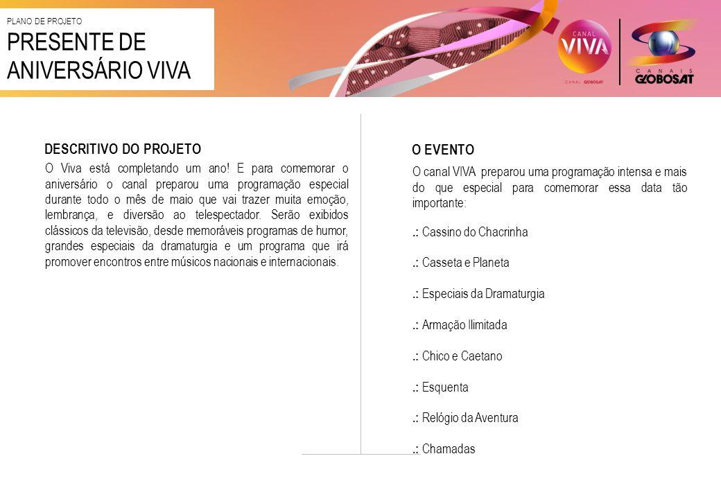 PRESENTE DE ANIVERSÁRIO VIVA DESCRITIVO DO PROJETO O EVENTO