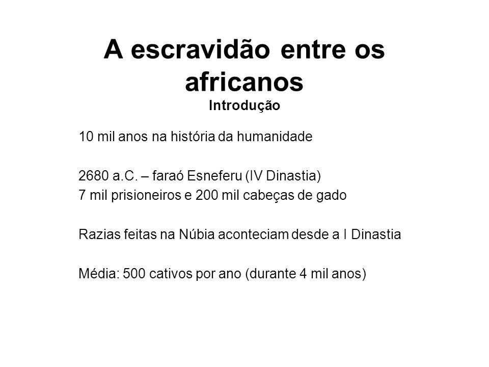 A escravidão entre os africanos Introdução