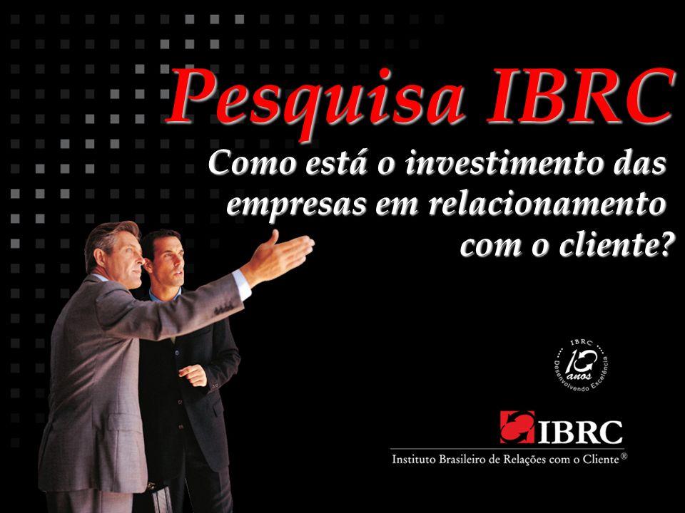Pesquisa IBRC Como está o investimento das empresas em relacionamento