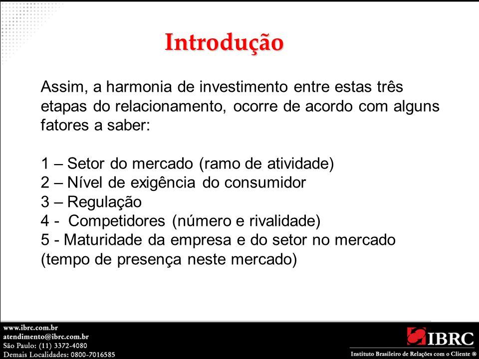 Introdução Assim, a harmonia de investimento entre estas três etapas do relacionamento, ocorre de acordo com alguns fatores a saber: