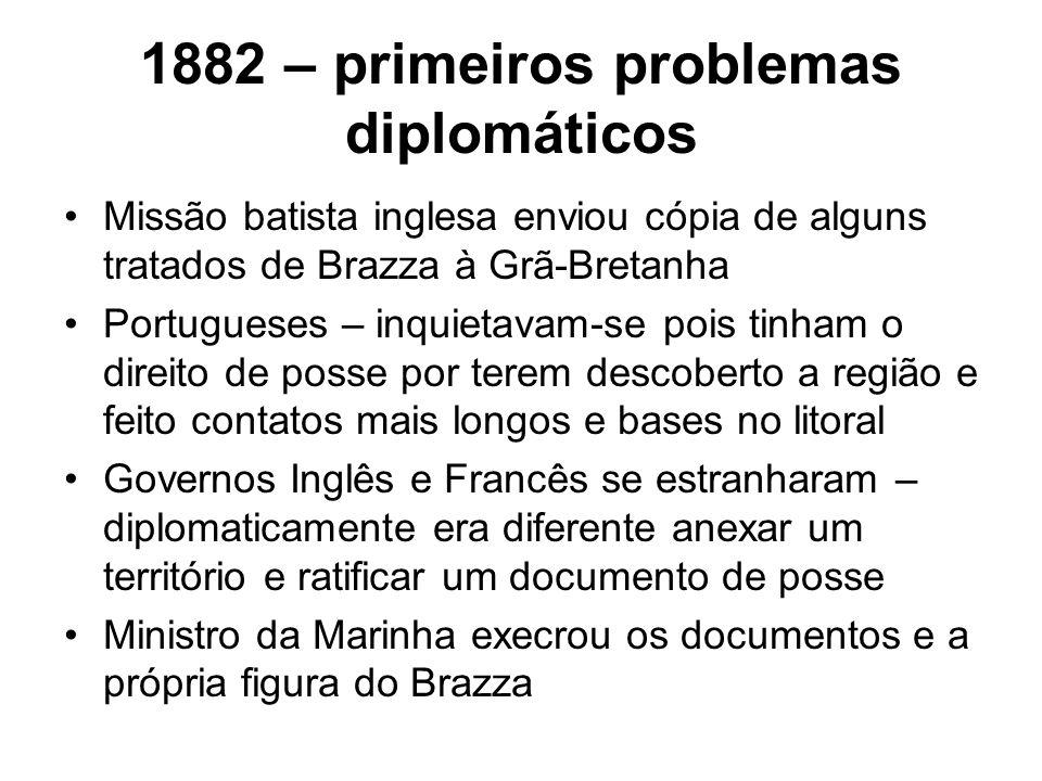 1882 – primeiros problemas diplomáticos