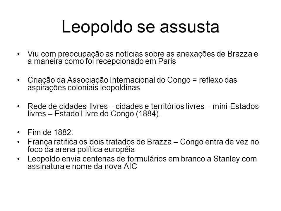 Leopoldo se assusta Viu com preocupação as notícias sobre as anexações de Brazza e a maneira como foi recepcionado em Paris.