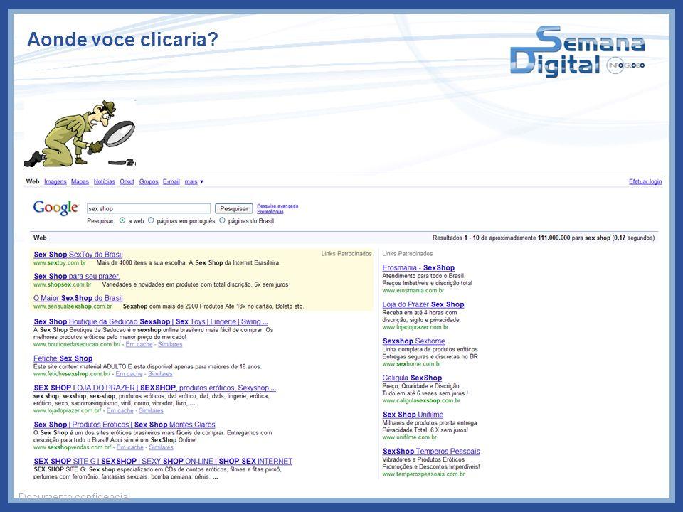 Aonde voce clicaria Documento confidencial
