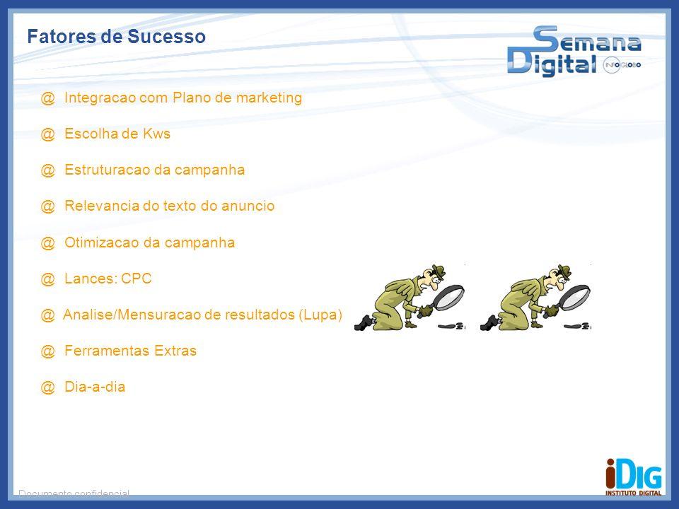 Fatores de Sucesso @ Integracao com Plano de marketing