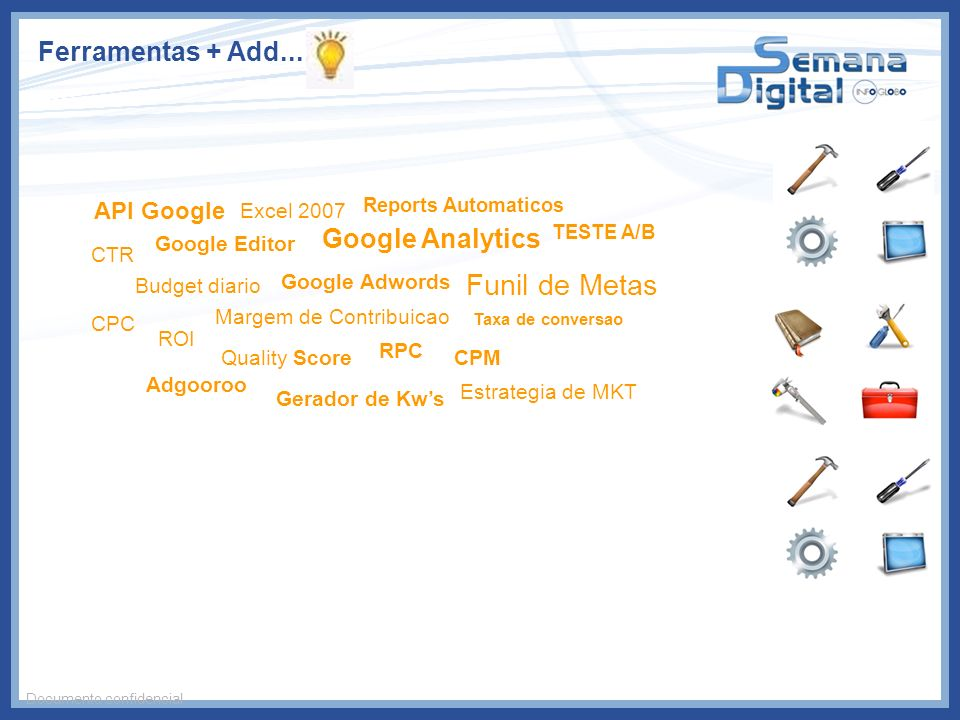 Funil de Metas Ferramentas + Add... Google Analytics API Google