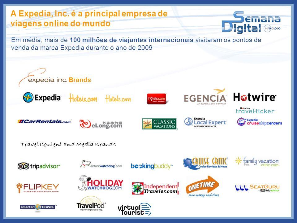A Expedia, Inc. é a principal empresa de viagens online do mundo