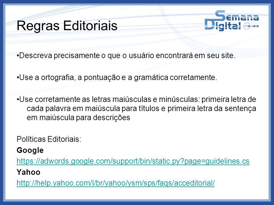 Regras Editoriais