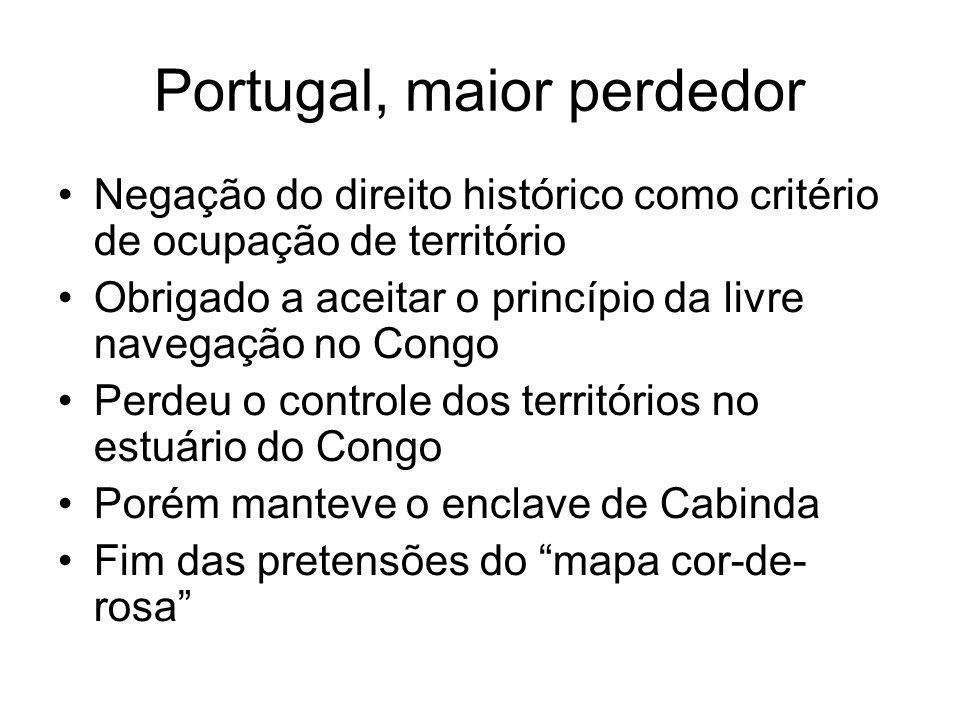 Portugal, maior perdedor