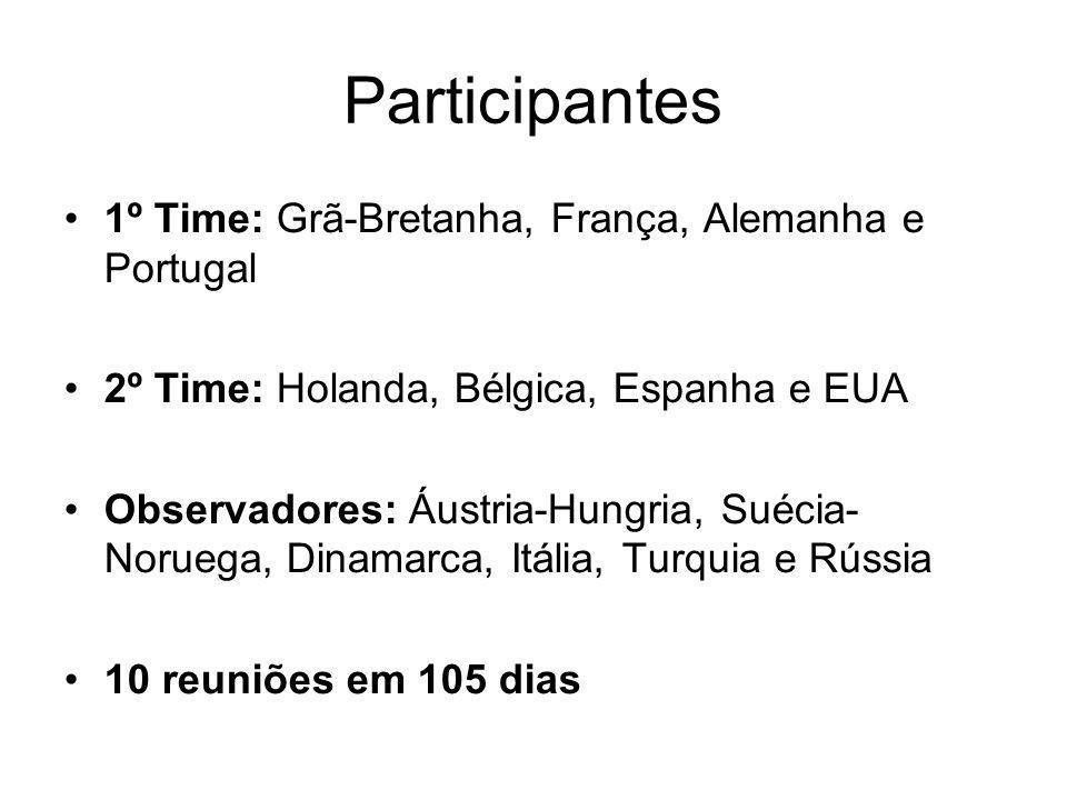 Participantes 1º Time: Grã-Bretanha, França, Alemanha e Portugal