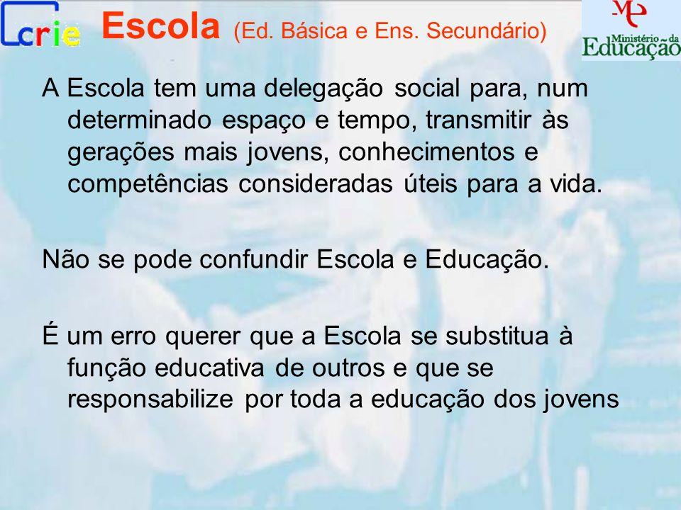 Escola (Ed. Básica e Ens. Secundário)