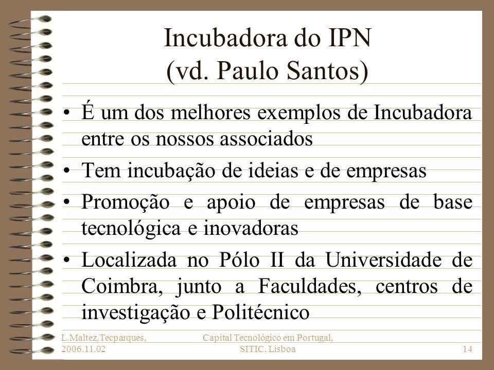 Incubadora do IPN (vd. Paulo Santos)