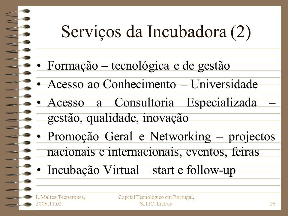 Serviços da Incubadora (2)