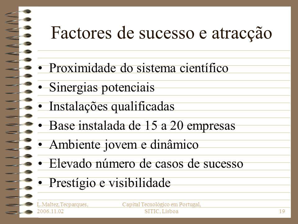 Factores de sucesso e atracção