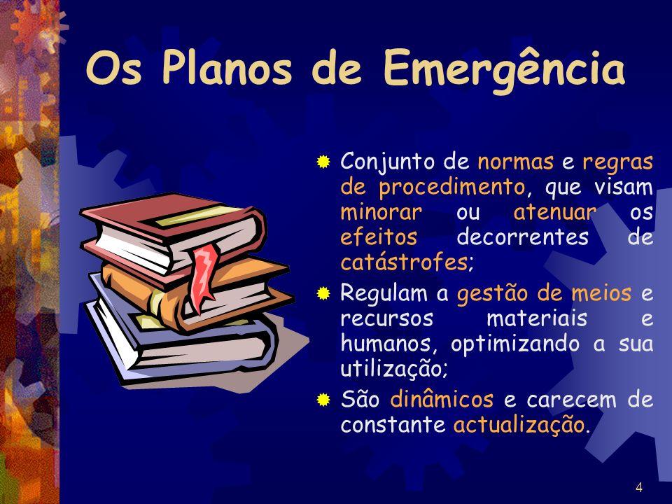 Os Planos de Emergência