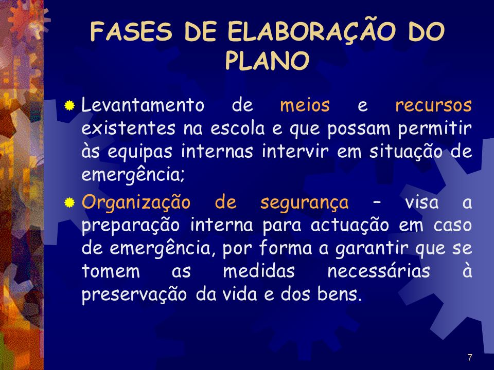 FASES DE ELABORAÇÃO DO PLANO
