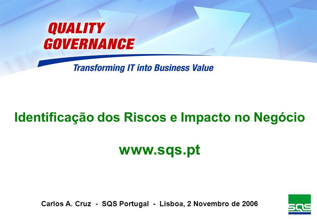 Identificação dos Riscos e Impacto no Negócio