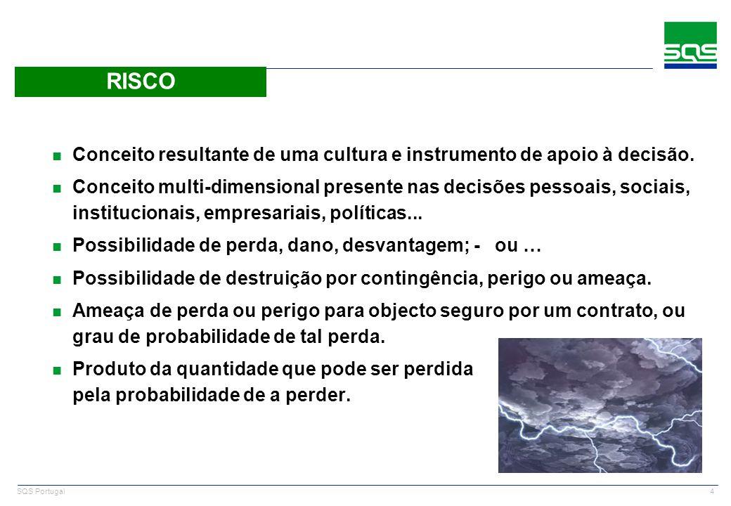 SQS PortugalRISCO. Conceito resultante de uma cultura e instrumento de apoio à decisão.