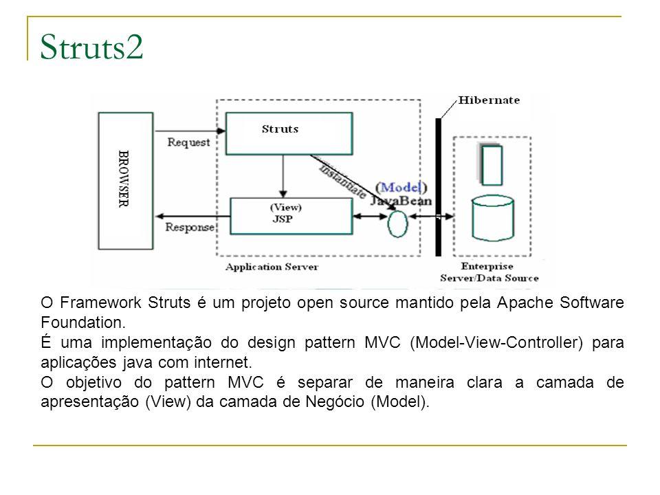 Struts2O Framework Struts é um projeto open source mantido pela Apache Software Foundation.