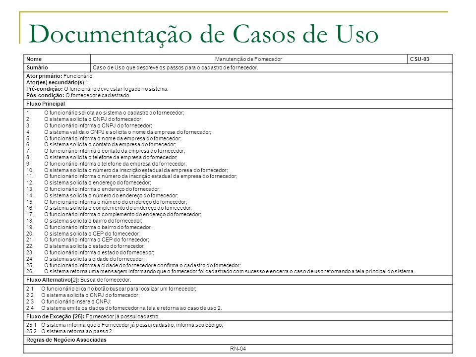 Documentação de Casos de Uso