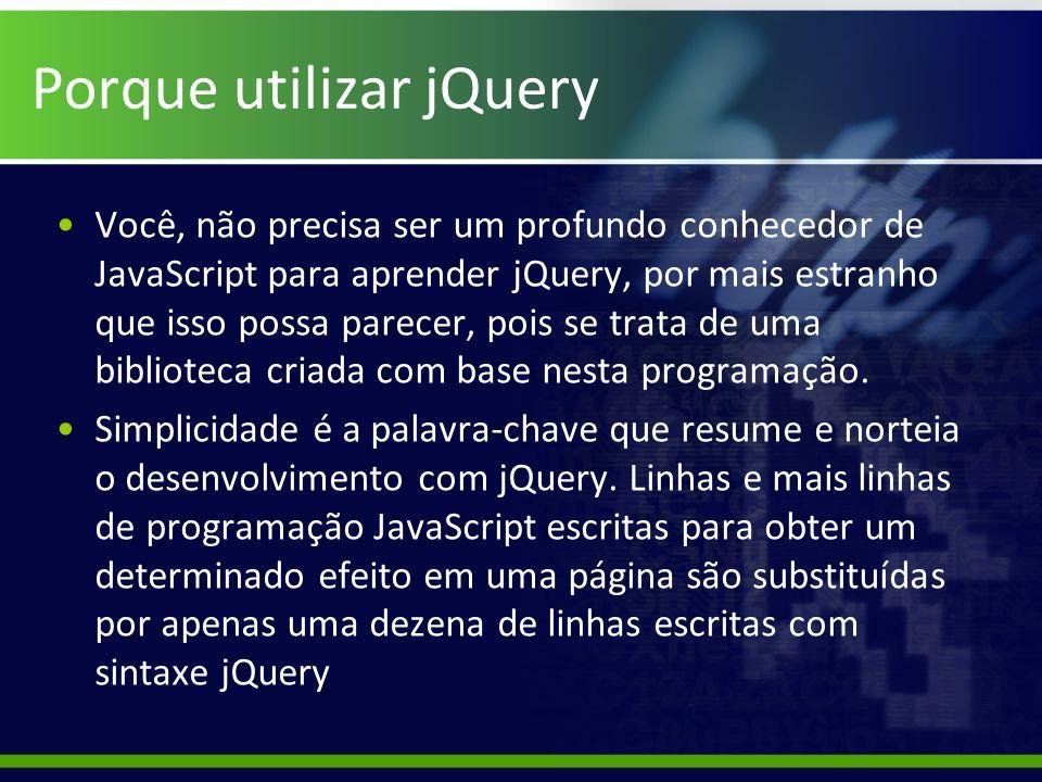 Porque utilizar jQuery