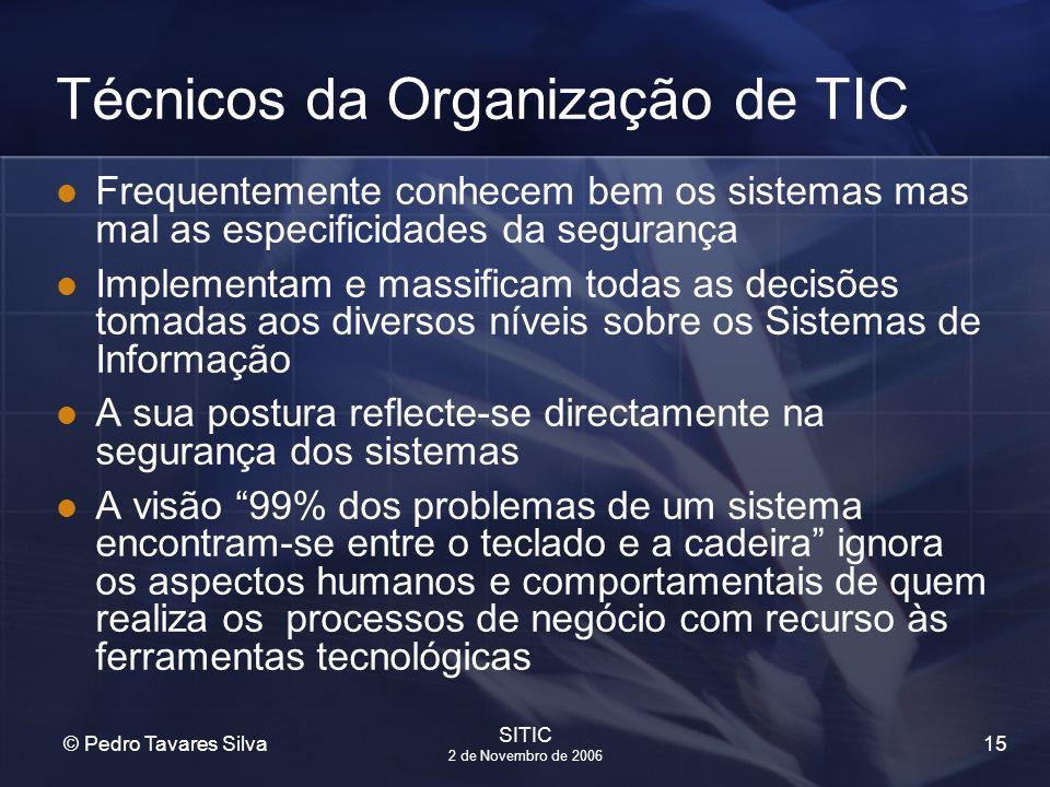 Técnicos da Organização de TIC