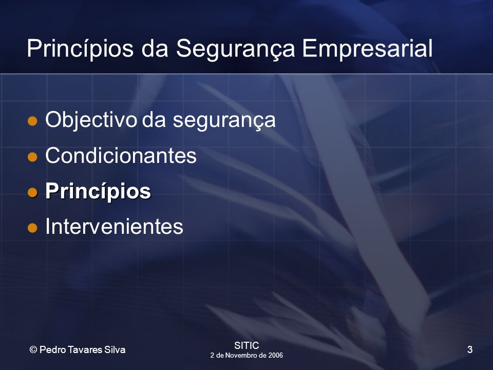 Princípios da Segurança Empresarial