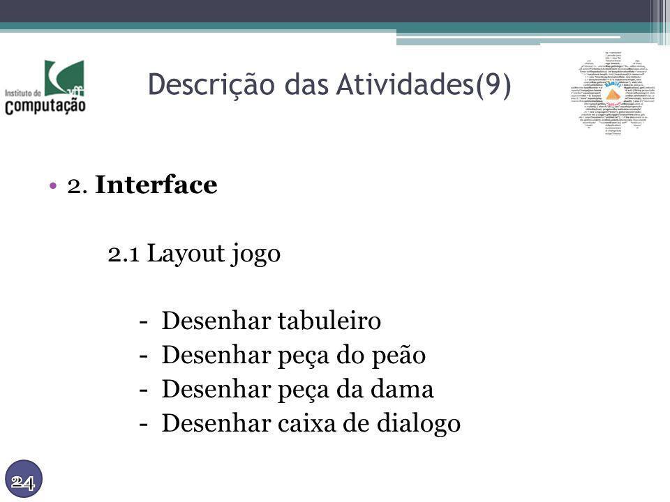 Descrição das Atividades(9)