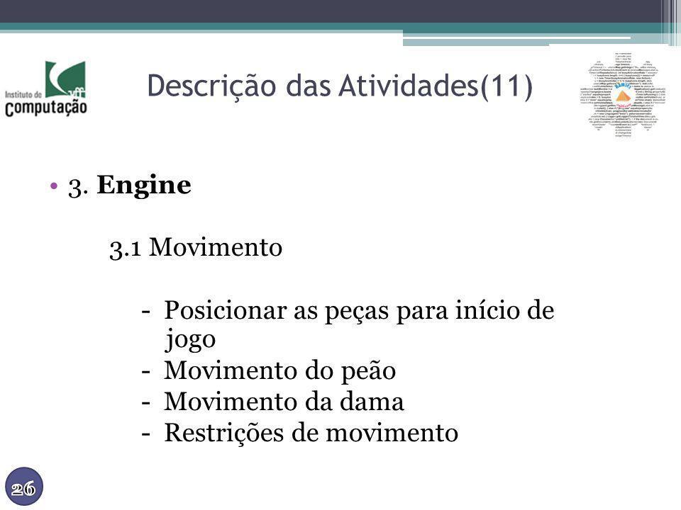 Descrição das Atividades(11)