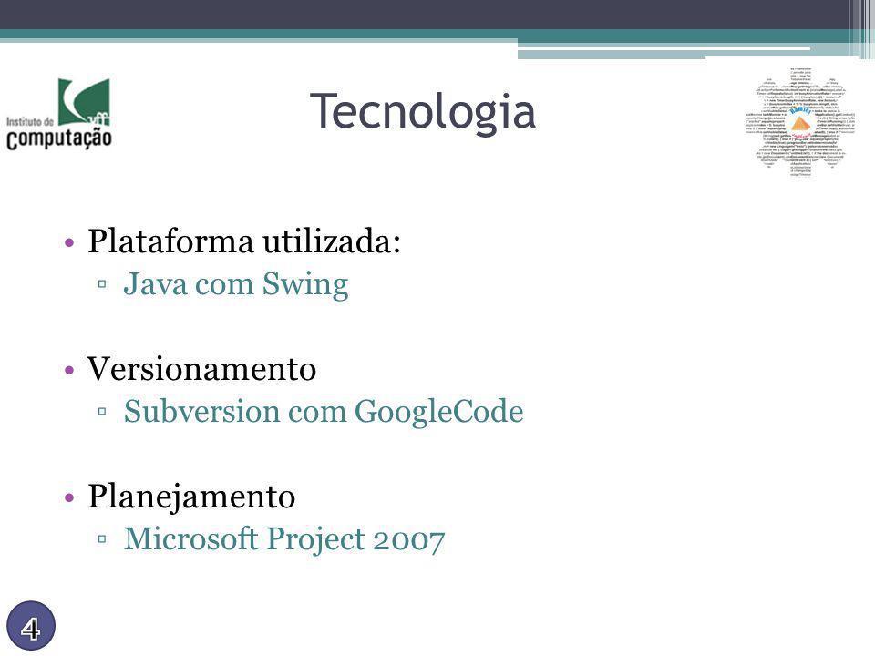 Tecnologia Plataforma utilizada: Versionamento Planejamento
