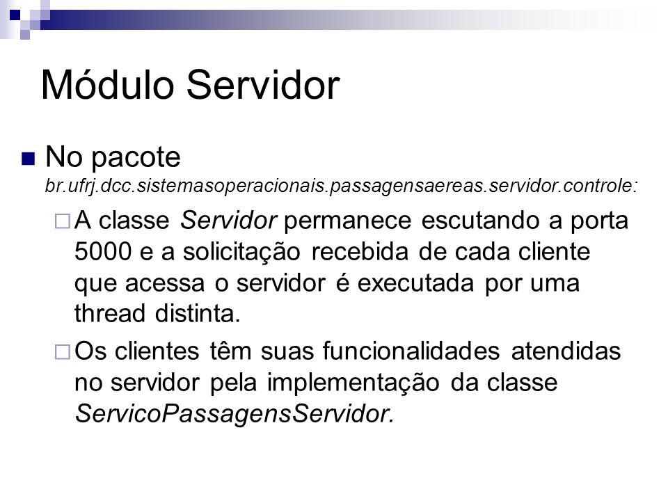 Módulo ServidorNo pacote br.ufrj.dcc.sistemasoperacionais.passagensaereas.servidor.controle: